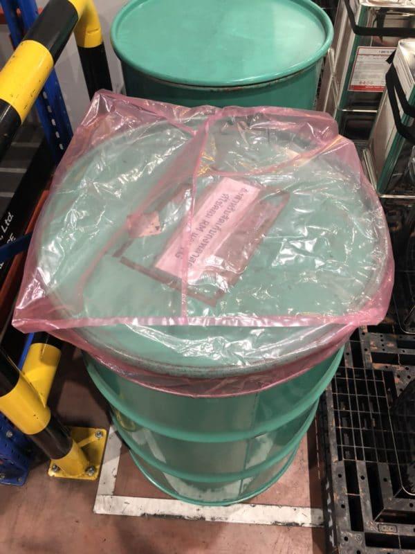 ถุงคลุมพาเลทถุงคลุมพาเลทแบบมีขอบยางยึด#สีชมพูแบบมีขอบยางยึด#สีชมพู