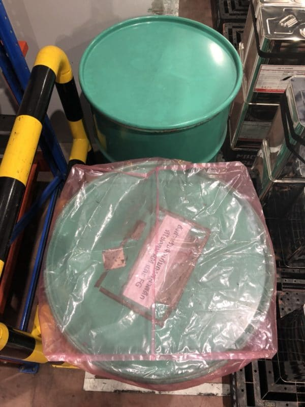 ถุงคลุมพาเลทแบบมีขอบยางยึด#สีชมพู