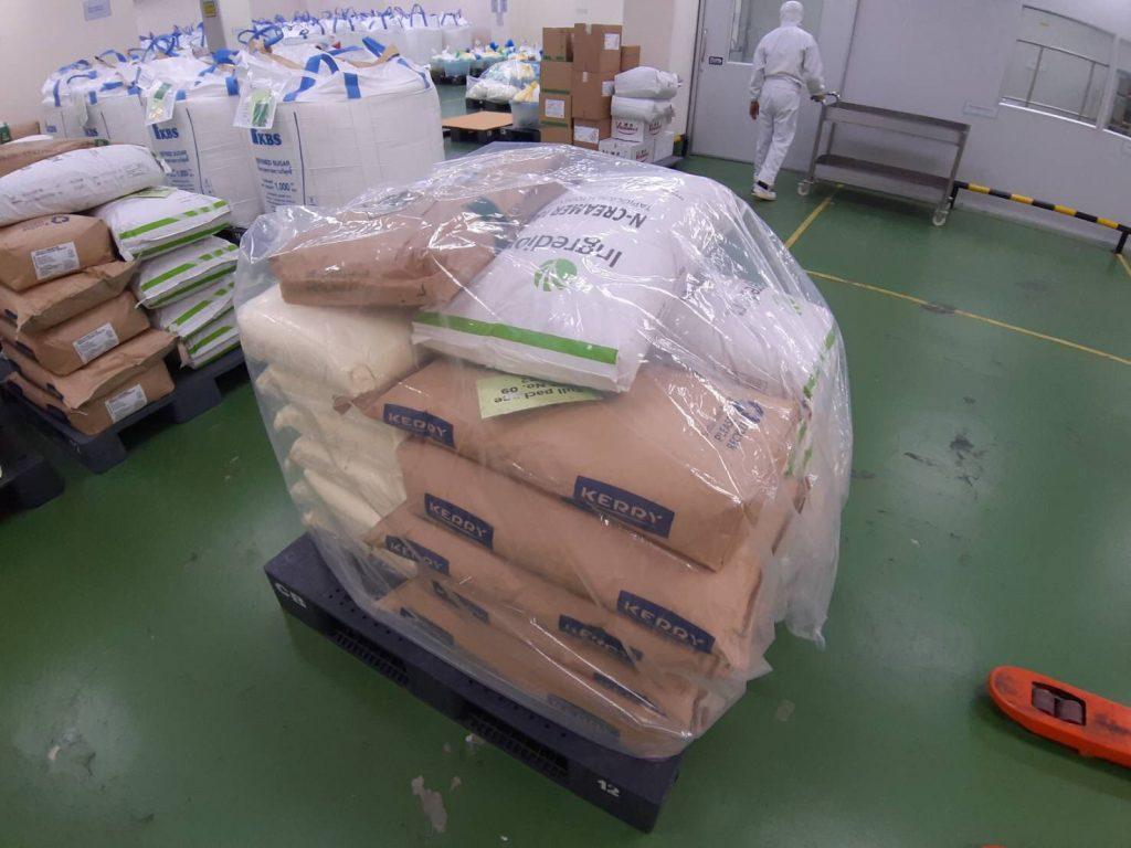 ตัวอย่างการใช้งานถุงคลุมพาเลทสำหรับคลุมสินค้า
