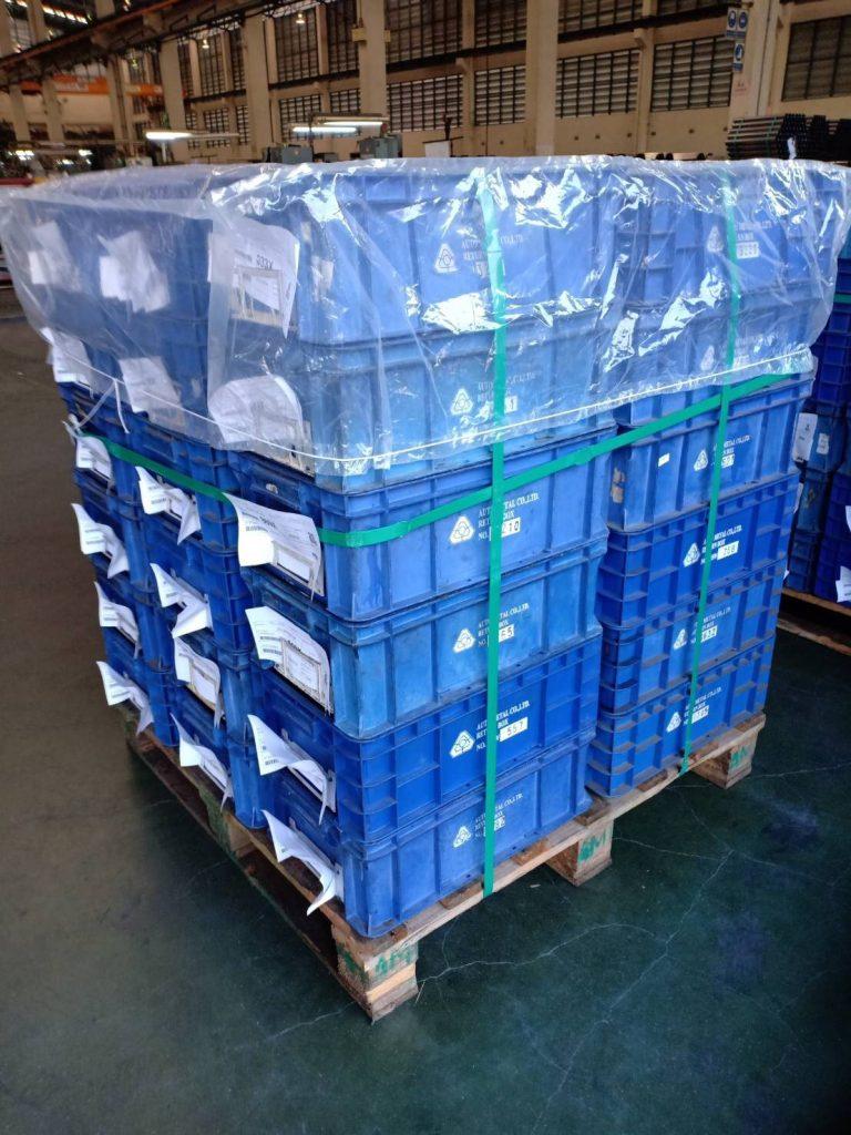 ตัวอย่างการใช้งานถุงคลุมพาเลทเพื่อเคลื่อนย้ายสินค้า