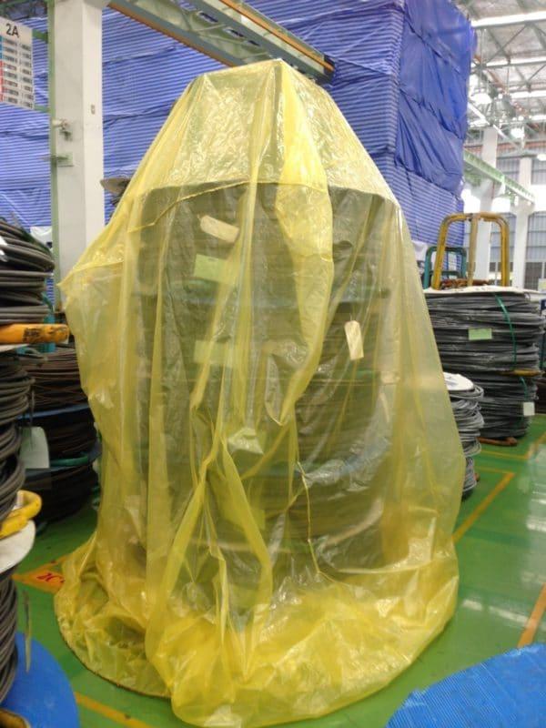 การใช้ถุงมุ้งแทนฟิล์มยึด